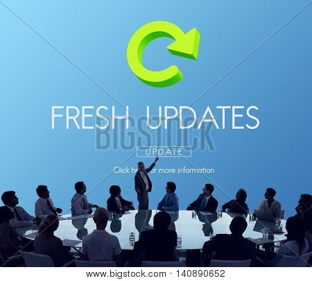 Latest Version Fresh Updates Application Updates Concept