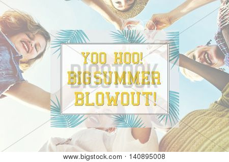 Let's Celebrate Festivity Summer Happy Concept