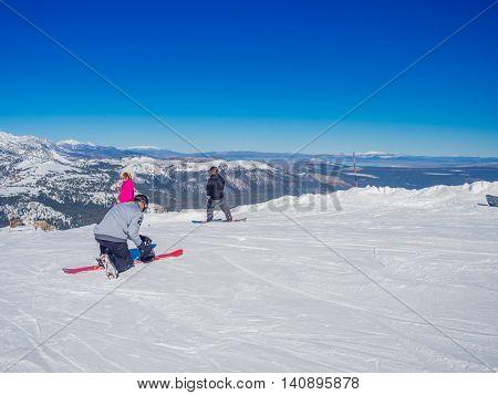 MAMMOTH LAKES, CA - November 8  2015, Mammoth Mountain Ski Area in the eastern Sierra Nevada mountains of California