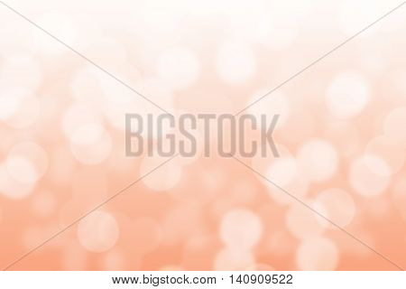 Abstract circular peach and white light bokeh background