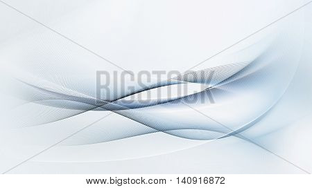 abstract light blue and gray motion lines on white background