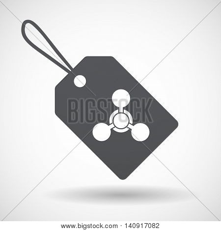 Isolated Label With A Chemical Weapon Sign