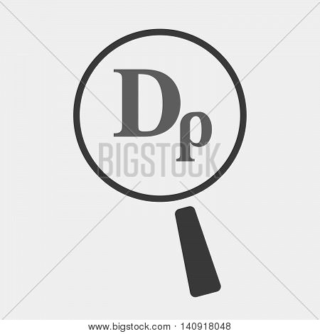 Isolated Magnifier Icon With A Drachma Currency Sign