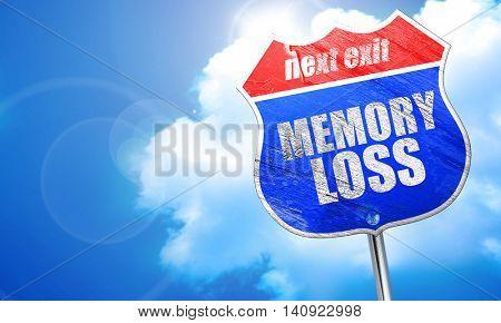 memory loss, 3D rendering, blue street sign