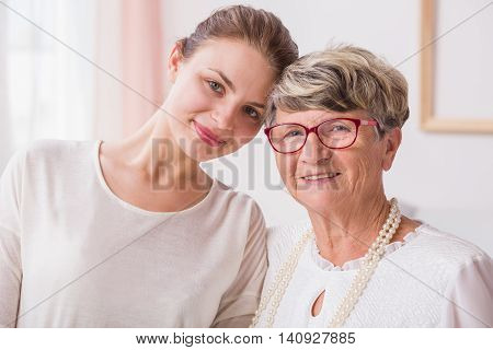 Close Relation Between Grandmother And Granddaughter