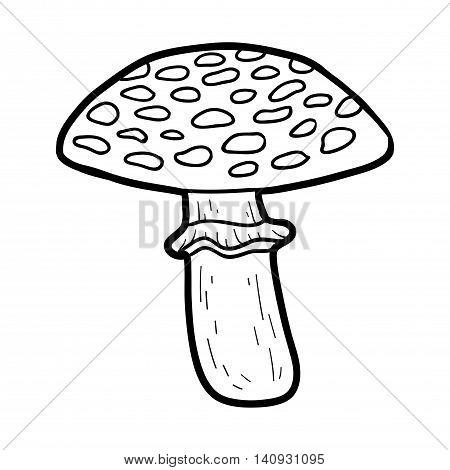 Coloring Book. Inedible Mushrooms, Amanita