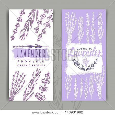 vector two Lavender Banners on gray background