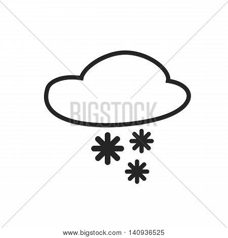 Sleet shower. Day and Night. Heavy snow. Weather forecast icon. Editable element. Creative item. Flat design graphic. Part of series of various symbols and signs for climate changes diagnostic. Vector