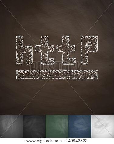 http icon. Hand drawn vector illustration. Chalkboard Design