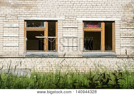 Broken Windows With Smashed Glass
