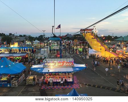 COLUMBUS, OHIO - AUGUST 1, 2016:  The Ohio State Fair is one of the largest state fairs in the United States with 12 day attendance reaching almost one million people.