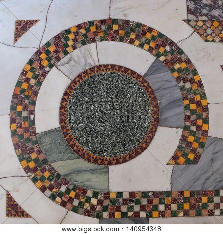 Floor od Cathedral Basilica of Gaeta - Italy