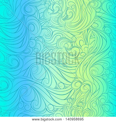 Bright abstract vector pattern of the waves of hair