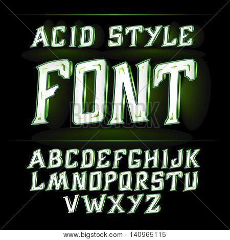 Vector label font, modern style. Absinthe label style