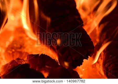 Hot Coals In The Stove