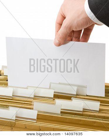 Sheet In Office Folders