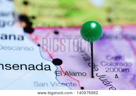 El Alamo pinned on a map of Mexico