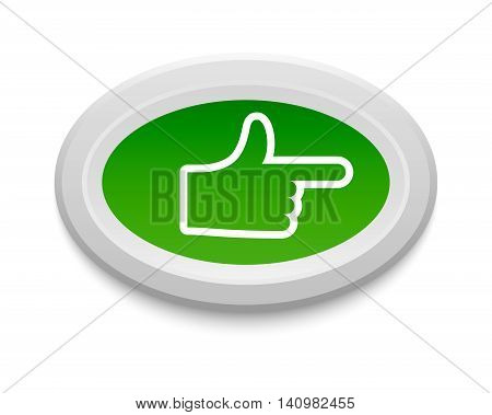 Ok like button, yes symbol. Vector internet check like button positive. Website accept like button success approved tick concept. Correct shiny sign.