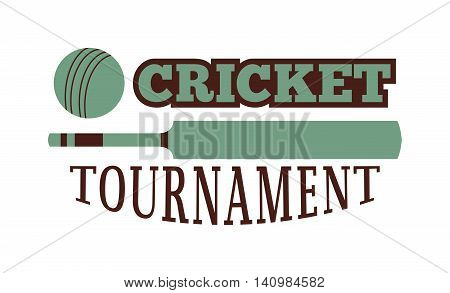 Template logo for cricket sport team with sport sign and symbols. Tournament competition graphic champion sport team logo badge icon. Vector club game cricket sport team logo badge.