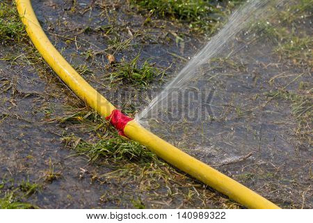Water hose has sprung a leak when watering
