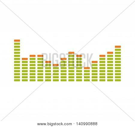 Equalizer music sound studio wave icon. Isolated and flat illustration. Vector graphic
