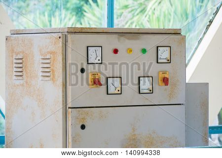 Old electric meter and control Electric Systems