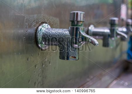 faucet, water, drop, bathroom, sink, old, overflowing