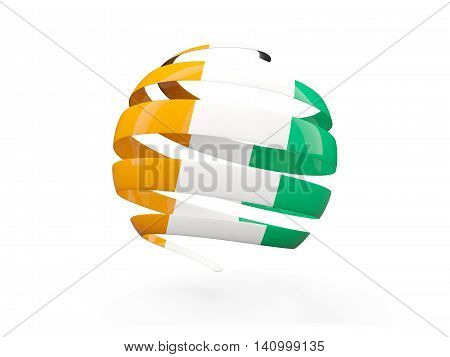 Flag Of Cote D Ivoire, Round Icon