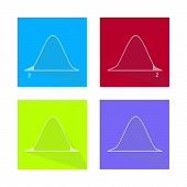 Charts and Graphs Illustration Collection of Gaussian Bell Curve or Standard Normal Distribution Curve. poster