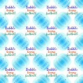 Bubble bump football equipment the seamless pattern. poster