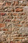 A renovated Cornish house block stone wall. poster
