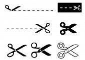 set of scissors - template poster