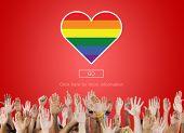Lgbt Proud Homosexual Bisexual Transgender Concept poster