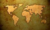 aged world map-vintage artwork poster
