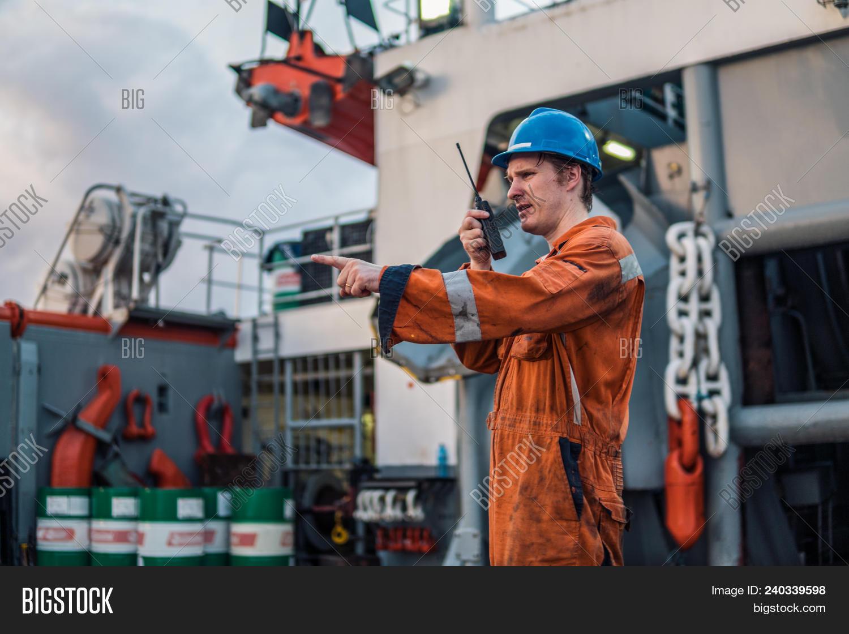 Marine Deck Officer Image & Photo (Free Trial) | Bigstock