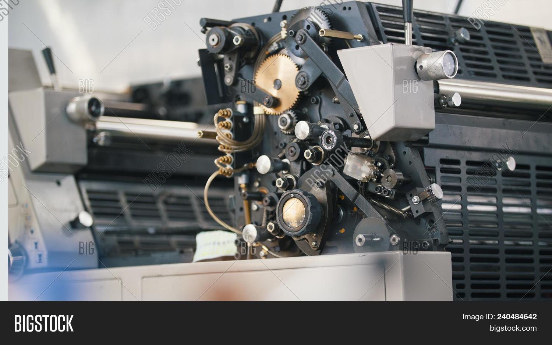 Modern Printing Press Machine In A House Horizontal