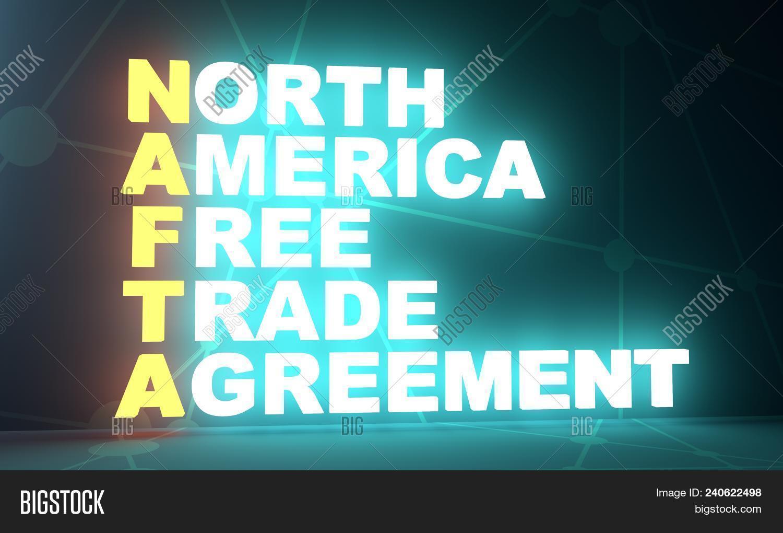 Acronym Nafta North Image Photo Free Trial Bigstock