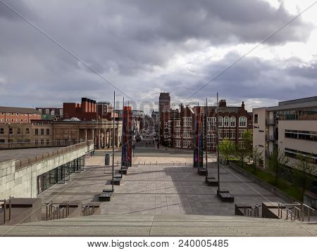 Streets And Views From Liverpool , Uk