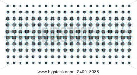 Asic Processor Icon Halftone Pattern, Designed For Backgrounds, Covers, Templates And Abstract Conce
