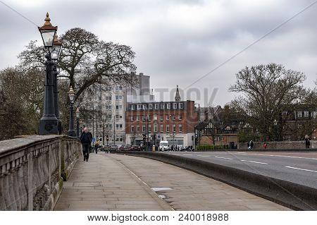 Kingston Upon Thames, United Kingdom - April 2018: Kingston Bridge Carrying The A308 Horse Fair Road