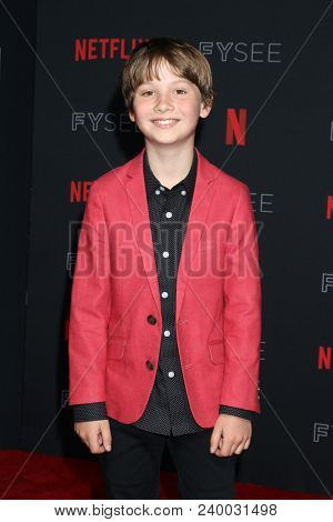LOS ANGELES - MAY 6:  Finn Carr at the Netflix FYSEE Kick-Off Event at Raleigh Studios on May 6, 2018 in Los Angeles, CA