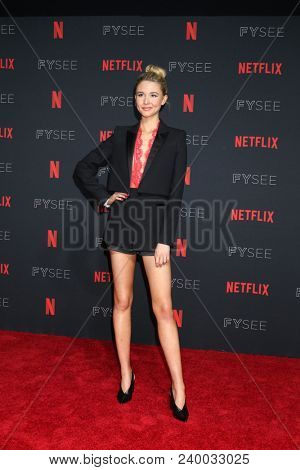 LOS ANGELES - MAY 6:  Isabel May at the Netflix FYSEE Kick-Off Event at Raleigh Studios on May 6, 2018 in Los Angeles, CA