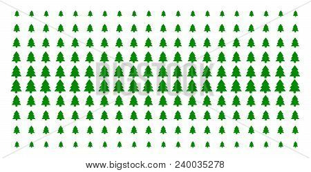 Fir-tree Icon Halftone Pattern, Designed For Backgrounds, Covers, Templates And Abstract Composition