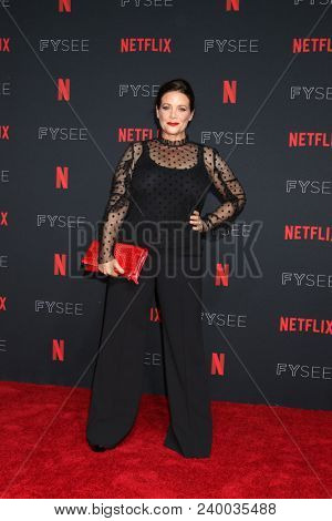 LOS ANGELES - MAY 6:  Meredith Salanger at the Netflix FYSEE Kick-Off Event at Raleigh Studios on May 6, 2018 in Los Angeles, CA