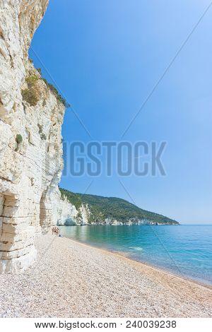 Vignanotica, Apulia, Italy - Sunshine At The Shingle Beach Of Vignanotica
