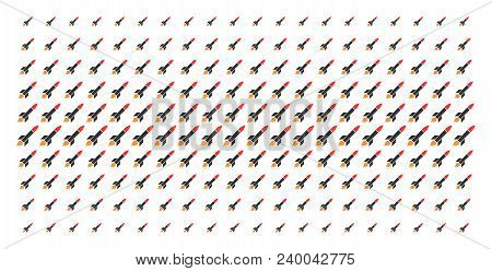 Missile Launch Icon Halftone Pattern, Designed For Backgrounds, Covers, Templates And Abstract Effec