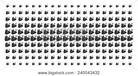 Mouse Head Icon Halftone Pattern, Designed For Backgrounds, Covers, Templates And Abstract Compositi