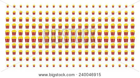 Popcorn bucket icon vector photo free trial bigstock popcorn bucket icon halftone pattern constructed for backgrounds covers templates and abstraction maxwellsz