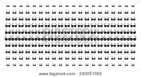 Spectacles Icon Halftone Pattern, Designed For Backgrounds, Covers, Templates And Abstraction Concep