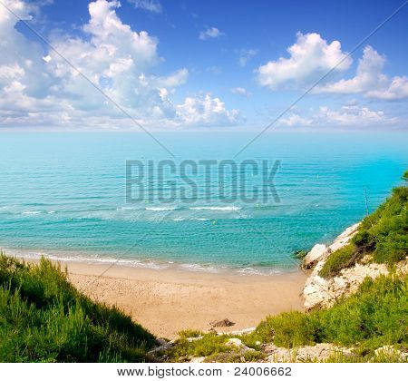 long beach Platja larga in Salou Tarragona Spain Catalonia [Photo Illustration]